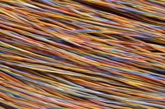 Netzkabel, Drähte in der Telekommunikation lizenzfreie stockfotografie