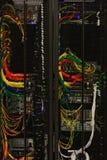 Netzkabel eines Servers lizenzfreie stockbilder