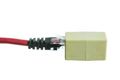 Netzkabel mit Isolat RJ45 stockfotos