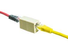 Netzkabel mit Isolat RJ45 lizenzfreie stockfotografie