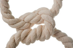 Netzkabel mit Knoten. stockfotografie