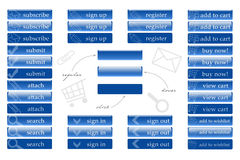 Netzknöpfe für Geschäft Lizenzfreie Stockbilder