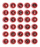 30 Netzknöpfe oder Ikonen, Anwendungen Lizenzfreies Stockbild