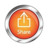 Netzknopf, Illustration ENV 10 auf weißem Hintergrund Lizenzfreies Stockfoto