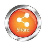 Netzknopf, Illustration ENV 10 auf weißem Hintergrund Stockfoto
