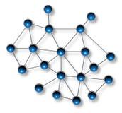 Netzkommunikationskonzept Lizenzfreies Stockbild