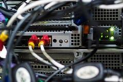 Netznabenkabel lan-Abschluss oben Lizenzfreie Stockfotografie