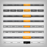 Netznavigationselemente Lizenzfreie Stockbilder