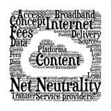Netzneutralität - Illustration lizenzfreie abbildung