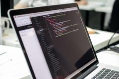 Netzskript Stockfotos