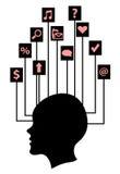Netzsymbole und -ikonen Lizenzfreie Stockbilder