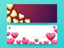 Netztitel oder -fahne für Valentinsgruß ` s Tag Stockbilder