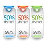 Netzverkauf, Rabatt, Angebot, Abkommenausweis, Titel, Aufkleber, Tag oder Fahne vektor abbildung