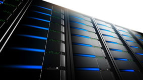 Netzwerk-Server in der Linie (Schleife) stock footage