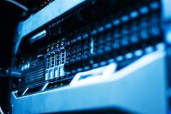 Netzwerk-Server im Datenraum Lizenzfreies Stockfoto