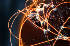 Netzwerkkonzept - Europa Lizenzfreie Stockbilder