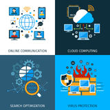 Netzwerksicherheits-Konzept-Satz Stockfoto