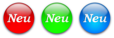 NEU buttons Stock Photography