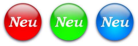 NEU buttons stock photography