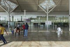 Neu-Delhi inländische Flughafenaußenaufnahme auf- 25. September 2011 Lizenzfreie Stockfotografie
