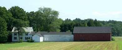 Neu-England schloß Bauernhaus an Stockfoto