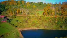 Neu-England Sleepy Hollow-Bauernhof im Herbst stock video