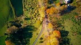Neu-England Sleepy Hollow-Bauernhof im Herbst stock footage