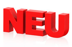 Neu (german word) Royalty Free Stock Photo