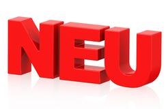 Neu (german word) Royalty Free Stock Photo