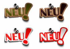 Neu german word for new Stock Images