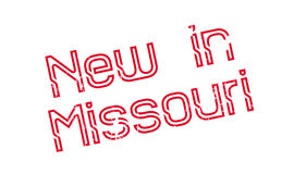 Neu in Missouri-Stempel Stockbild