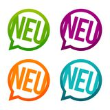 Neu - New round Buttons. Circle Eps10 Vector. Royalty Free Stock Image