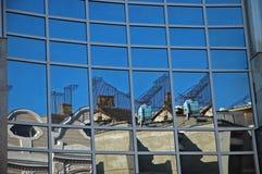 Neu reflektiert alte 2 Stockbild