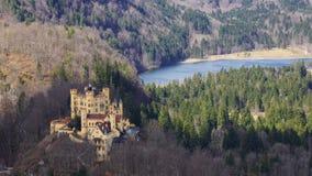 Neu schwangau koloru żółtego kasztel obrazy royalty free