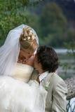 Neu-verheiratete Paare Lizenzfreie Stockfotografie