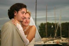 Neu-verheiratete Paare Lizenzfreies Stockbild