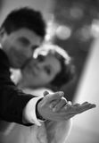 Neu-verheiratete Paare Stockfotos