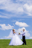 Neu-verheiratete Paare Stockbilder