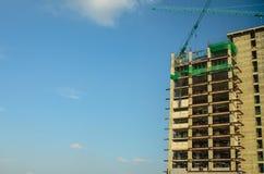Neubau im Bau Stockfotos