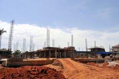 Neubau in Juba Stockbild