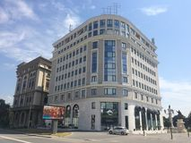 Neubau in Skopje, Mazedonien lizenzfreie stockfotografie
