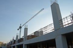 Neubau während des Baus Stockbild