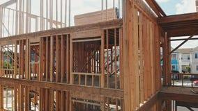 Neubaugestaltungshaus mit Rahmen stock footage