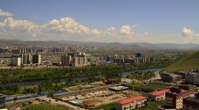 Neubauten in der Hauptstadt Ulaanbaatar, Mongolei Stockbilder