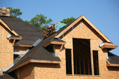 Neubauwohnungen-Aufbau Stockbild