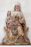 Neuberg an der Murz - The carved polychrome statue of St. Ann from 17. cent in Dom of Neuberg. Royalty Free Stock Image