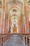 Neuberg an der Murz - The nave of gothic Dom build in 15. cent. Stock Photography