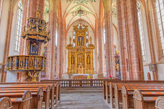 Neuberg an der Murz - The nave of gothic Dom build in 15. cent. Stock Photo