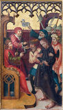 Neuberg an der Murz - The paint of Jesus judgment for Pilate on side altar of gothic Dom by unknown artist from year 1505. Stock Image