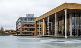 Neubiberg , Germany - February 16 2018 : Infineon is controlling their business from their headquarter building close to Royalty Free Stock Photography